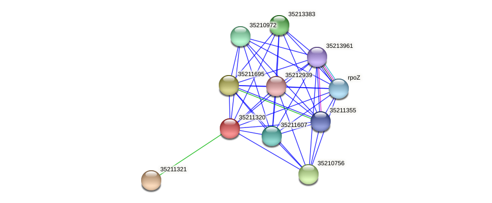 glr0758 protein (Gloeobacter violaceus) - STRING interaction network