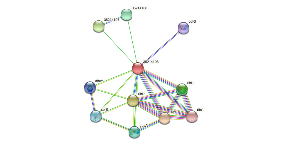glr3534 protein (Gloeobacter violaceus) - STRING interaction network