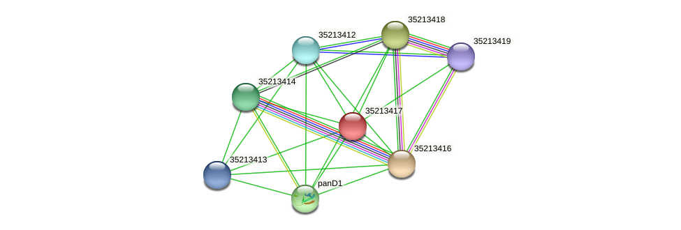 gsr2847 protein (Gloeobacter violaceus) - STRING interaction network
