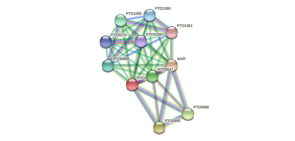 PTO1003 protein (Picrophilus torridus) - STRING interaction network