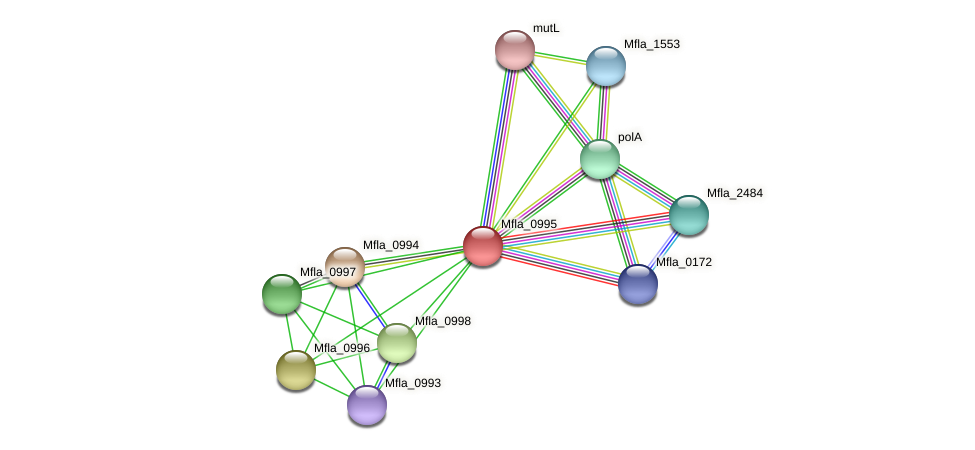 nth protein (Methylobacillus flagellatus) - STRING interaction network