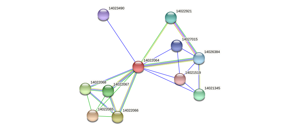 mll1259 protein (Mesorhizobium loti) - STRING interaction network