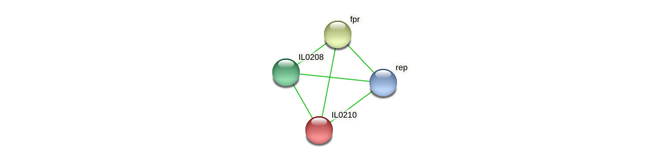 IL0210 protein (Idiomarina loihiensis) - STRING interaction network