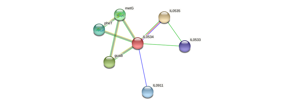 IL0534 protein (Idiomarina loihiensis) - STRING interaction network