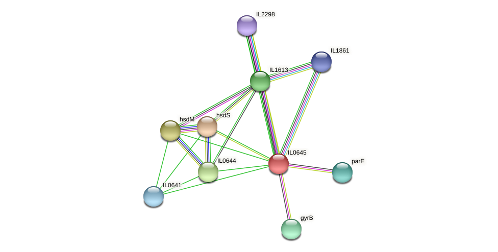 IL0645 protein (Idiomarina loihiensis) - STRING interaction network