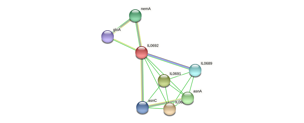 IL0692 protein (Idiomarina loihiensis) - STRING interaction network