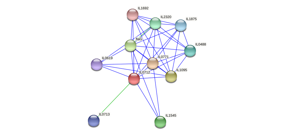 IL0712 protein (Idiomarina loihiensis) - STRING interaction network