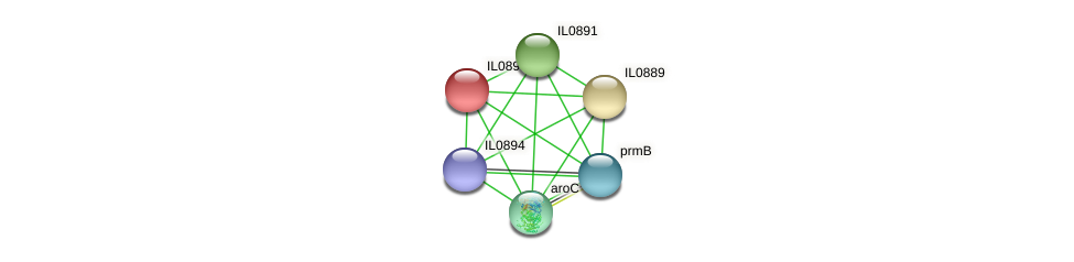 IL0890 protein (Idiomarina loihiensis) - STRING interaction network