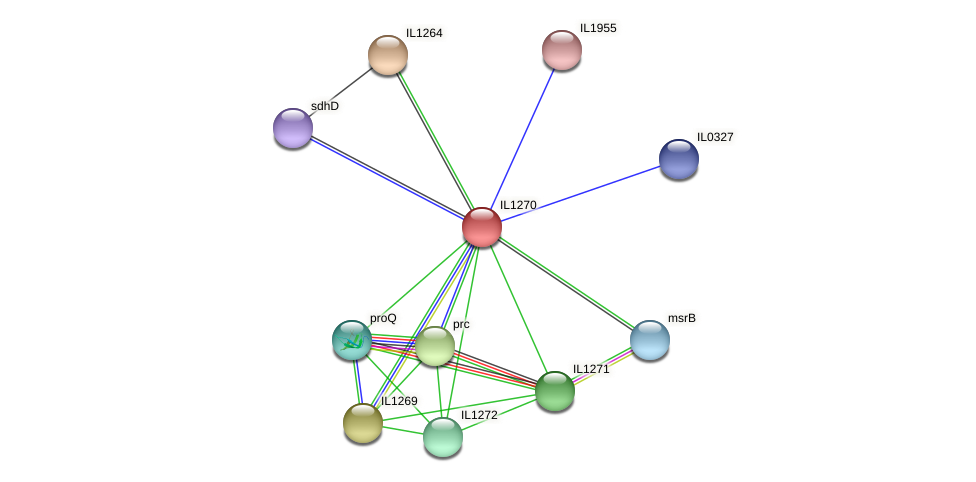 IL1270 protein (Idiomarina loihiensis) - STRING interaction network