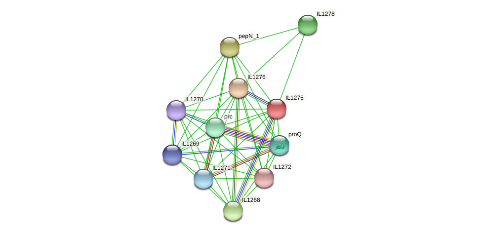IL1275 protein (Idiomarina loihiensis) - STRING interaction network