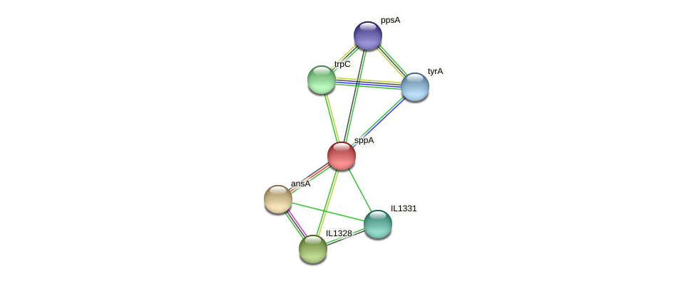 sppA protein (Idiomarina loihiensis) - STRING interaction network