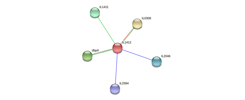 IL1412 protein (Idiomarina loihiensis) - STRING interaction network