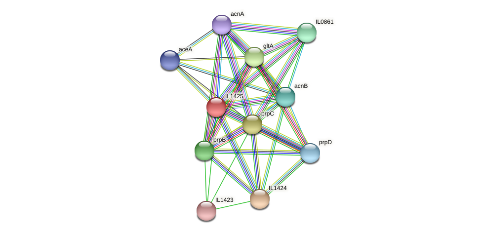 IL1425 protein (Idiomarina loihiensis) - STRING interaction network