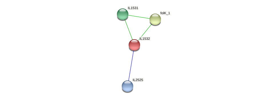 IL1532 protein (Idiomarina loihiensis) - STRING interaction network