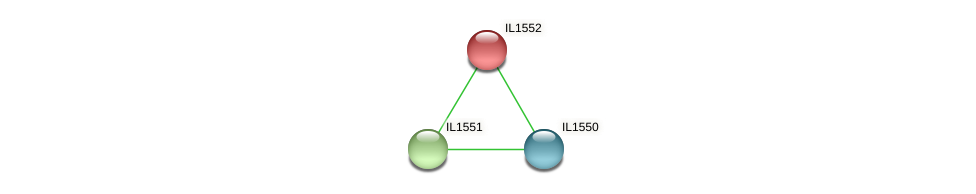 IL1552 protein (Idiomarina loihiensis) - STRING interaction network