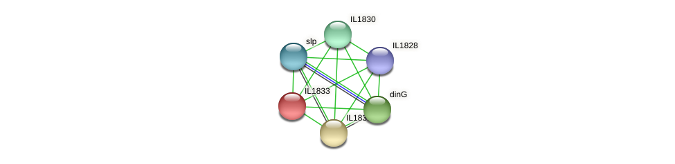 IL1833 protein (Idiomarina loihiensis) - STRING interaction network