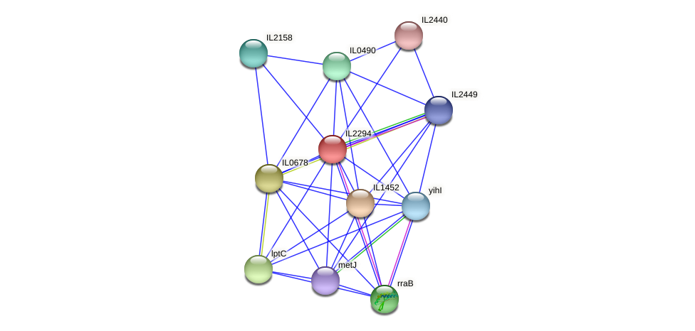 IL2294 protein (Idiomarina loihiensis) - STRING interaction network