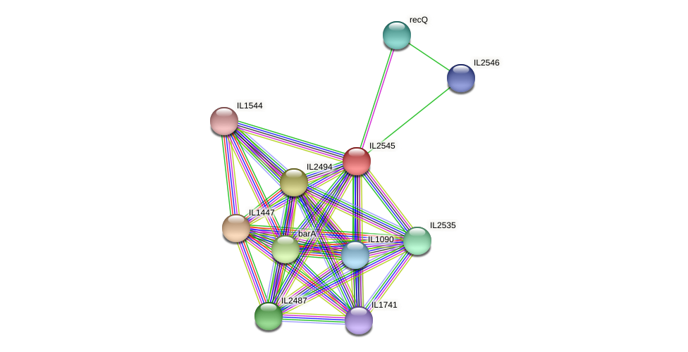 IL2545 protein (Idiomarina loihiensis) - STRING interaction network