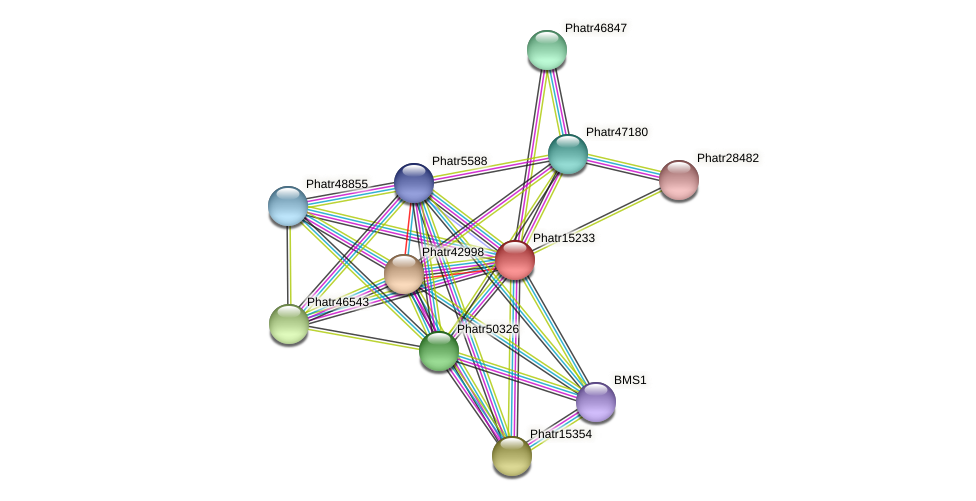 Phatr15233 protein (Phaeodactylum tricornutum) - STRING interaction network