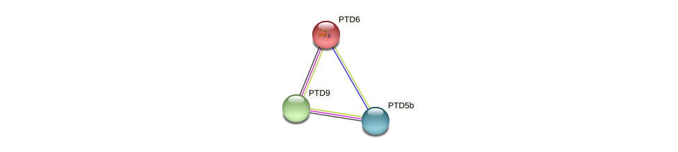 PTD6 protein (Phaeodactylum tricornutum) - STRING interaction network