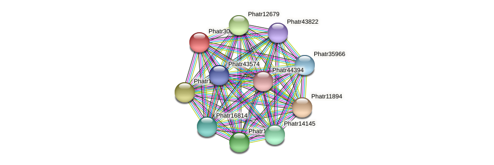 Phatr30960 protein (Phaeodactylum tricornutum) - STRING interaction network