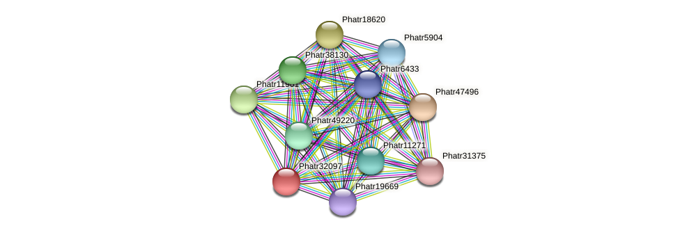 Phatr32097 protein (Phaeodactylum tricornutum) - STRING interaction network