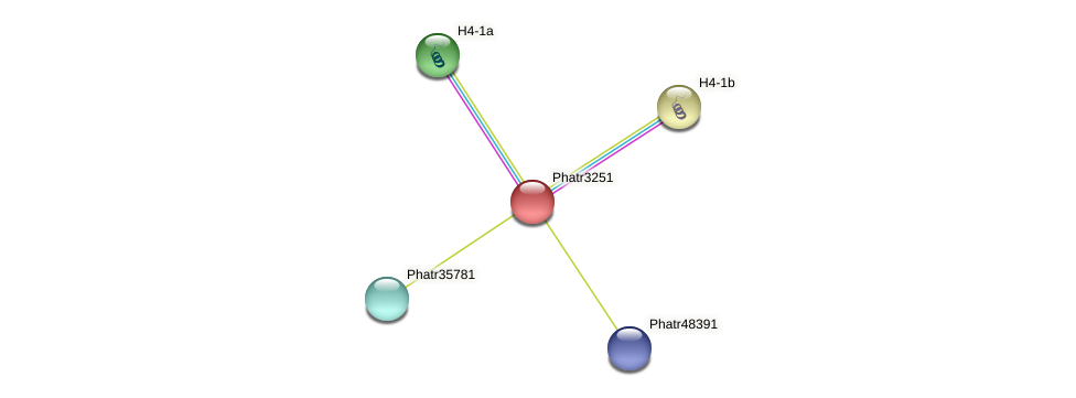 Phatr3251 protein (Phaeodactylum tricornutum) - STRING interaction network
