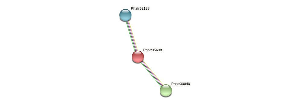 Phatr35638 protein (Phaeodactylum tricornutum) - STRING interaction network