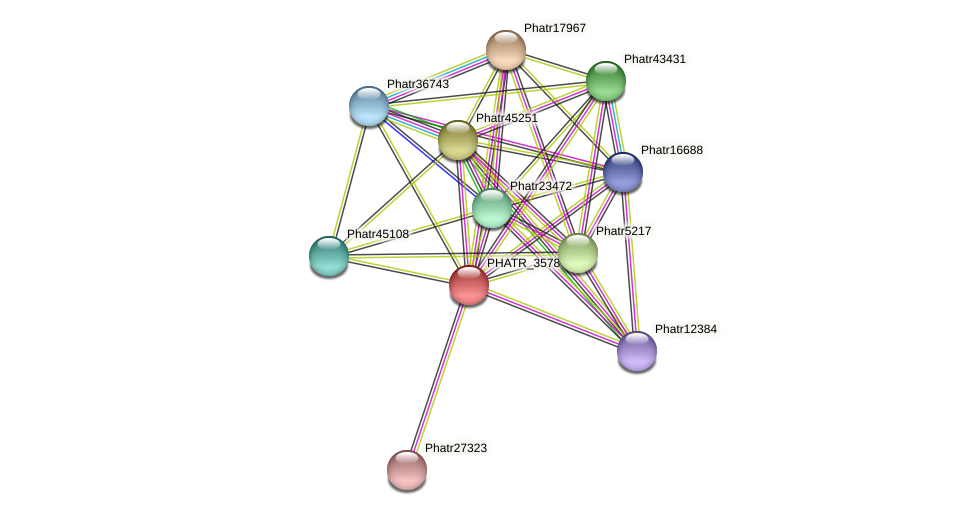 PHATR_3578 protein (Phaeodactylum tricornutum) - STRING interaction network