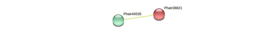 Phatr38821 protein (Phaeodactylum tricornutum) - STRING interaction network