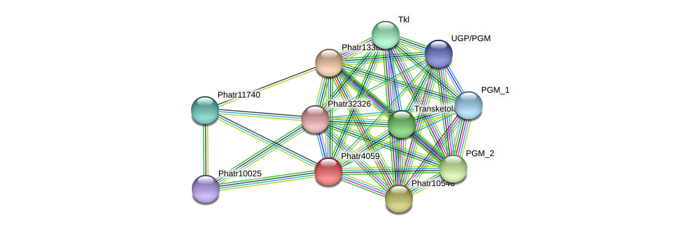 Phatr4059 protein (Phaeodactylum tricornutum) - STRING interaction network