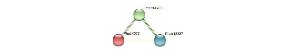 Phatr4073 protein (Phaeodactylum tricornutum) - STRING interaction network