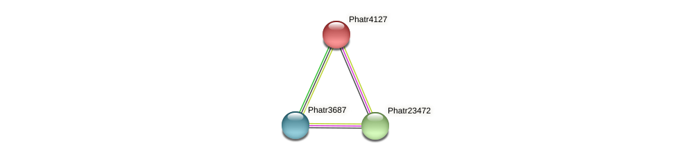 Phatr4127 protein (Phaeodactylum tricornutum) - STRING interaction network