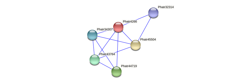Phatr4266 protein (Phaeodactylum tricornutum) - STRING interaction network