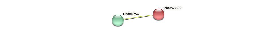 Phatr43839 protein (Phaeodactylum tricornutum) - STRING interaction network