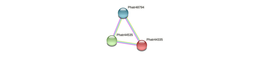 Phatr44335 protein (Phaeodactylum tricornutum) - STRING interaction network
