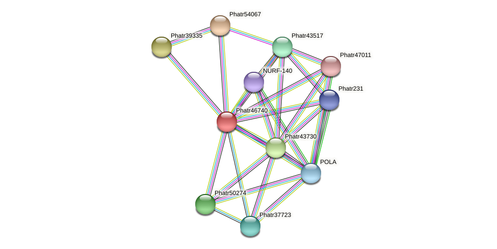 Phatr46740 protein (Phaeodactylum tricornutum) - STRING interaction network