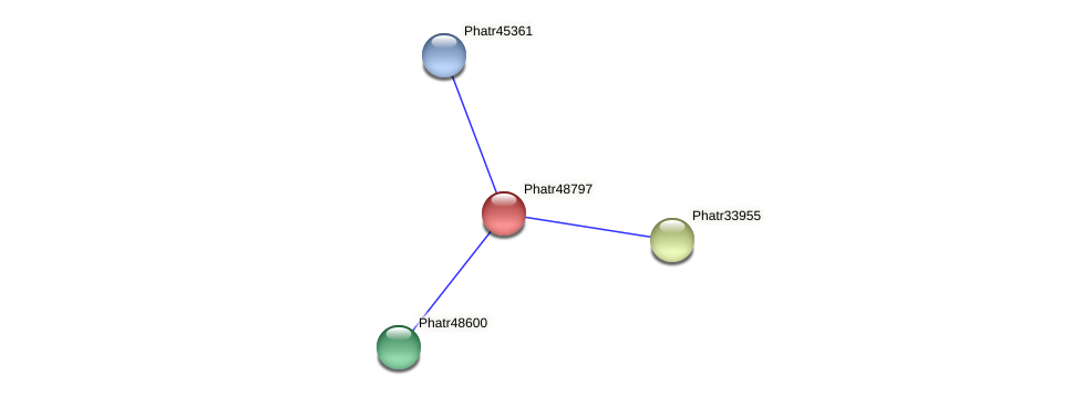 Phatr48797 protein (Phaeodactylum tricornutum) - STRING interaction network