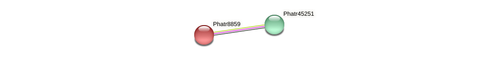 Phatr8859 protein (Phaeodactylum tricornutum) - STRING interaction network