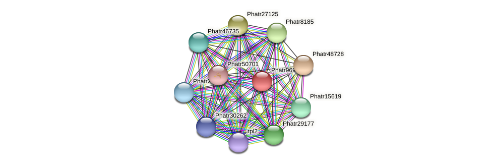 Phatr9697 protein (Phaeodactylum tricornutum) - STRING interaction network