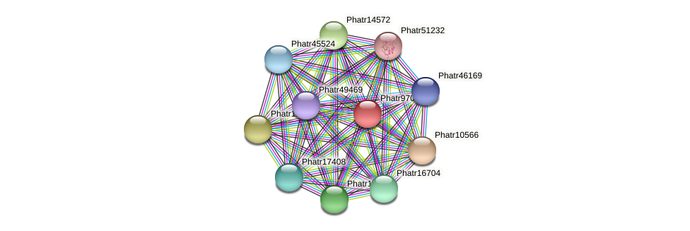 Phatr9701 protein (Phaeodactylum tricornutum) - STRING interaction network