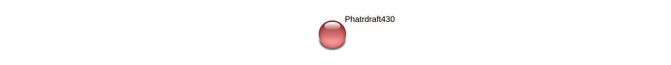 Phatrdraft430 protein (Phaeodactylum tricornutum) - STRING interaction network