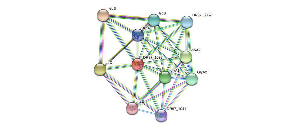 tdcB_1 protein (Pseudomonas aeruginosa) - STRING interaction network