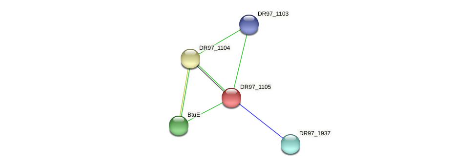 DR97_1105 protein (Pseudomonas aeruginosa) - STRING interaction network