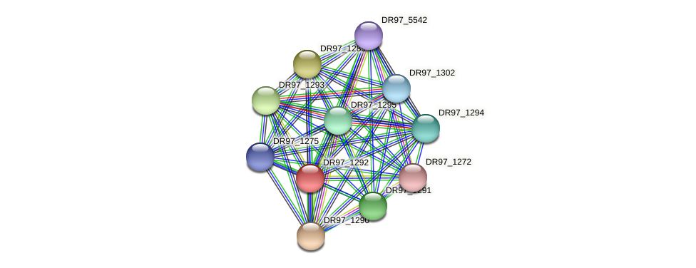 DR97_1292 protein (Pseudomonas aeruginosa) - STRING interaction network