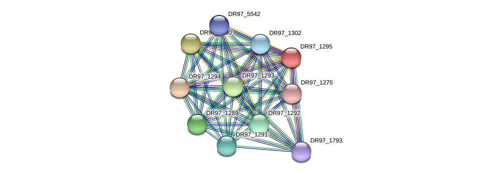 DR97_1295 protein (Pseudomonas aeruginosa) - STRING interaction network