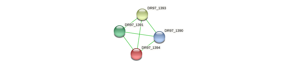 DR97_1394 protein (Pseudomonas aeruginosa) - STRING interaction network