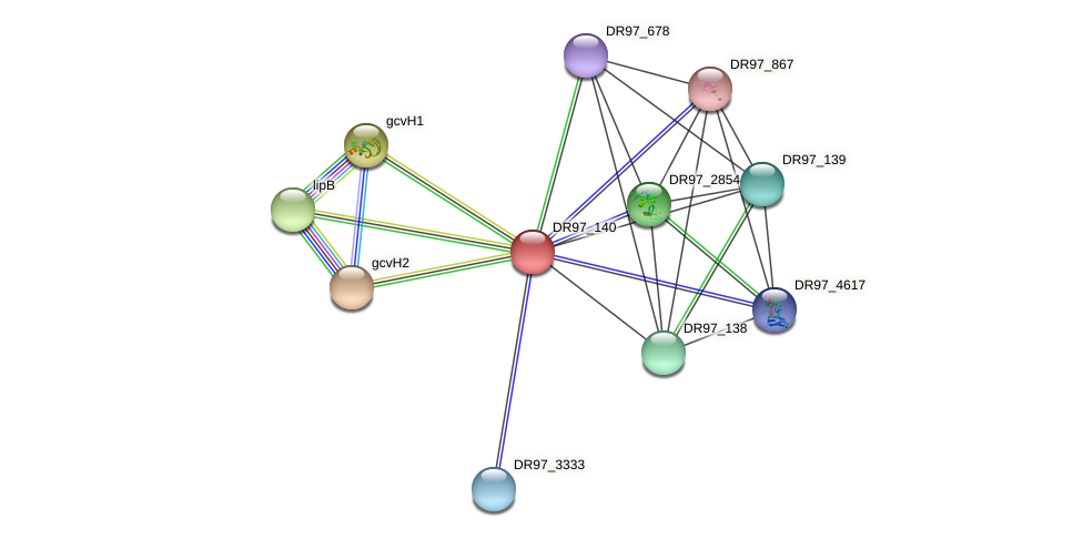 DR97_140 protein (Pseudomonas aeruginosa) - STRING interaction network