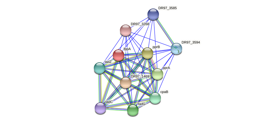 DR97_1470 protein (Pseudomonas aeruginosa) - STRING interaction network