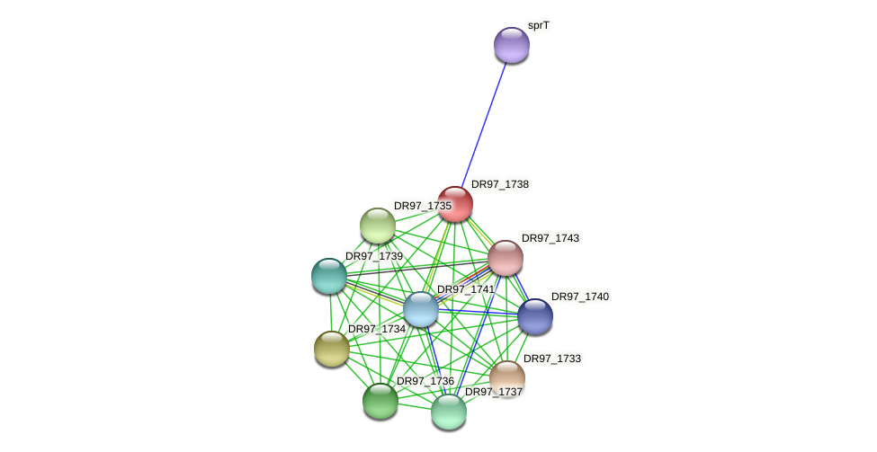 DR97_1738 protein (Pseudomonas aeruginosa) - STRING interaction network